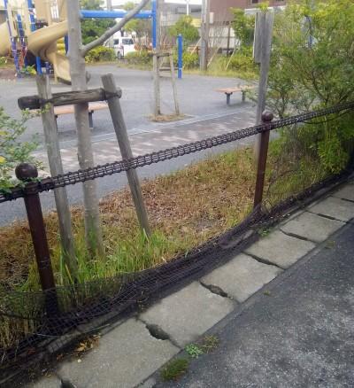 桂の木公園のフェンス2