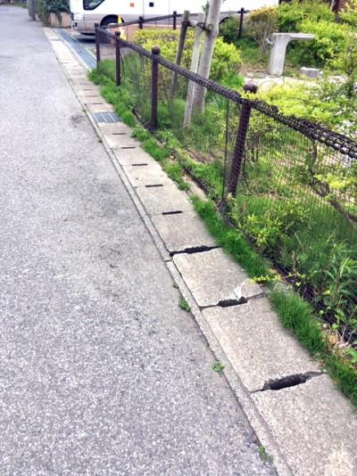 鬼高4丁目桂の木公園のネット柵1