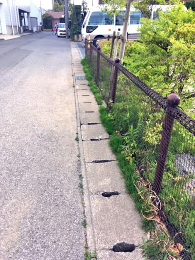 鬼高4丁目桂の木公園のネット柵2