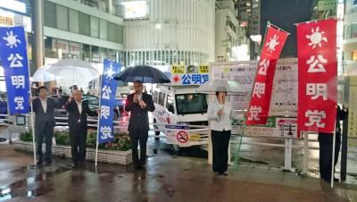 市川駅、本八幡駅にて街頭遊説