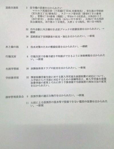 佐藤副市長に平成30年度の予算要望2