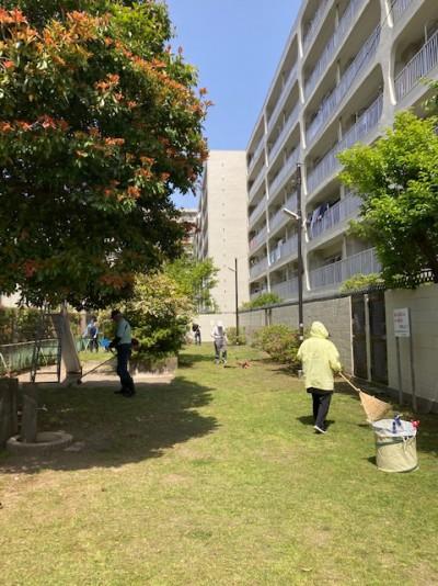 毎月第2日曜日地域の日公園清掃1