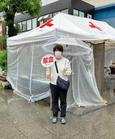 赤十字社の献血1